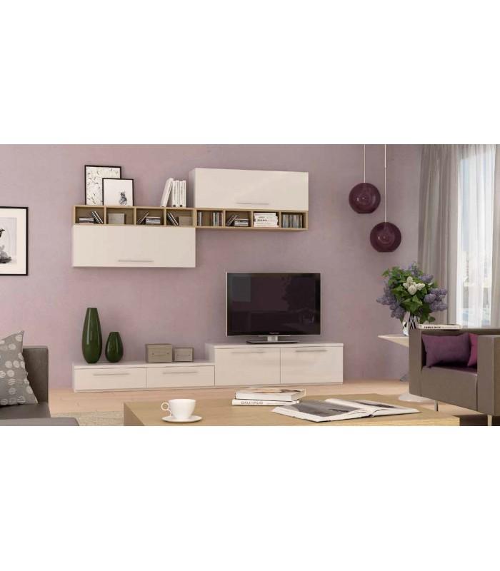 Muebles bajos tv mueble tv lockerstyle blanco loading - Muebles low cost ...