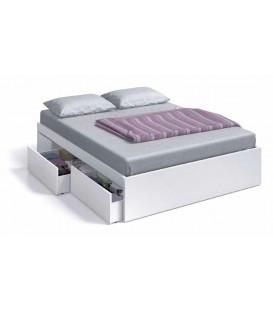 BED Cama 150 con 4 cajones (para somier de 190x150)
