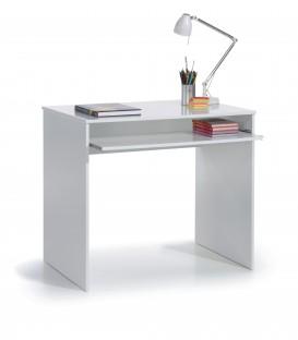 KIDS Mesa ordenador,acabado Blanco Brillo