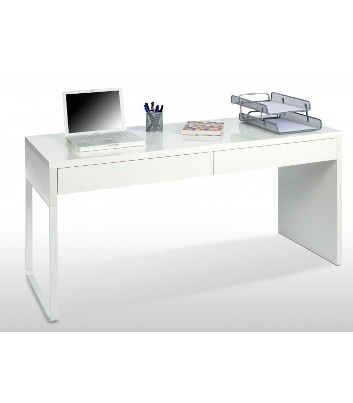 Bianca mesa escritorio reversible con 2 cajones acabado - Mesa de escritorio ...