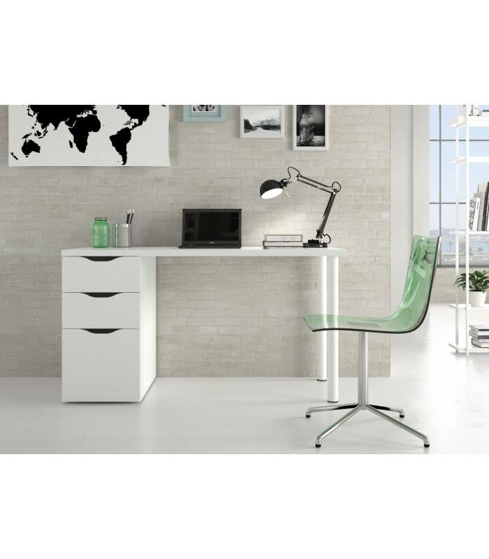 Sansa mesa ordenador reversible acabado blanco brillo - Muebles de ordenador ...